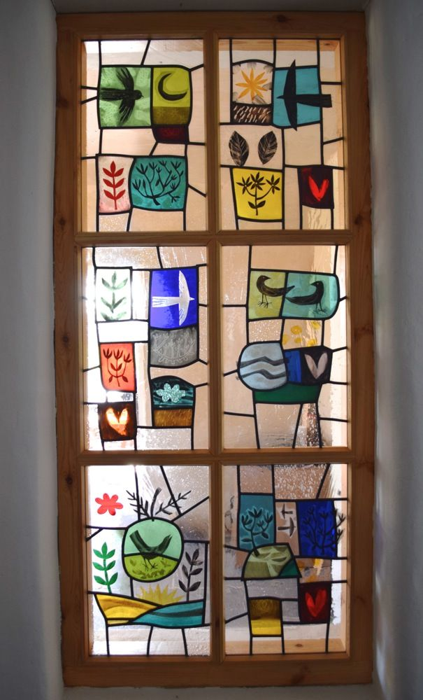 There is a naive quality to this which is pleasing. I'm not sure that it's quite what we're looking for in our design though (Stained Glass - Christian Ryan)