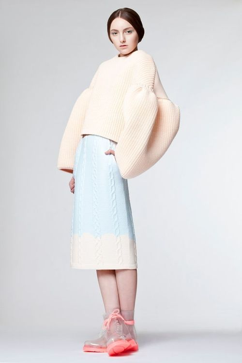 Beautiful proportion and colour by knitwear designer Xiao Li