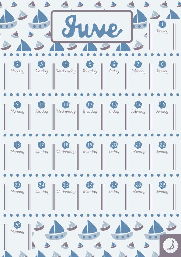 June #calendar