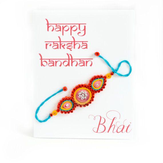 Rakhi Card Raksha Bandhan Card Card for Bhai by ofthingspretty