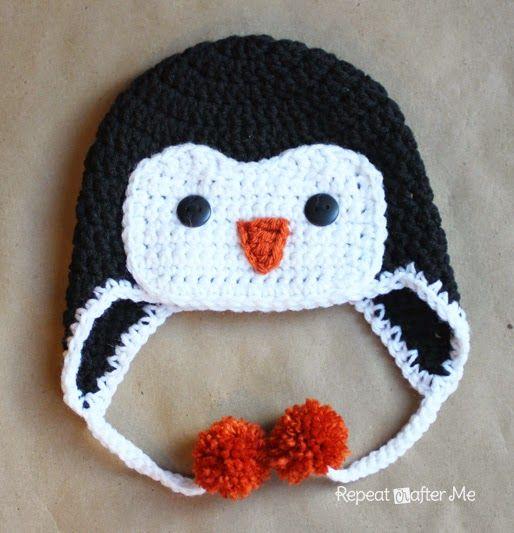 kreatief met stof en wol: Pinguin Muts (vertaling)