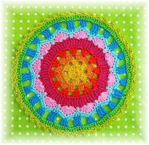 Mandala De Ganchillo en Pinterest | Ganchillo Estilo Libre ...