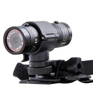 FuriAuto Caméra Sportive pour Casque de Moto HD 1080P Grand-angulaire 120° sport caméra DV pour sport, vélo, moto, etc