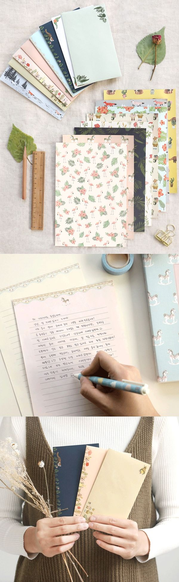 Emails are overrated. Send your loved ones personal snail mail with this super cute Pattern Letter Set!