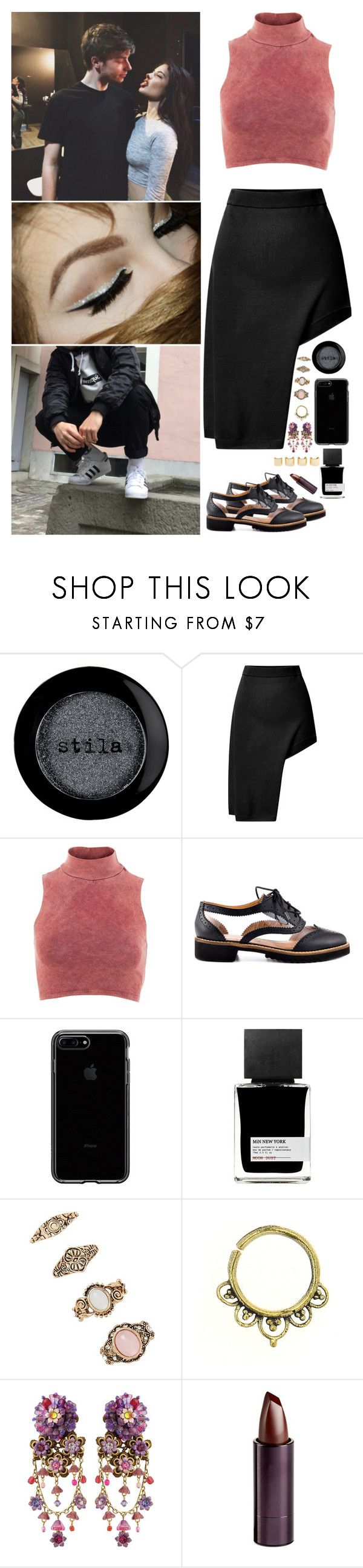 """""""Just a touch...²"""" by anaalsan ❤ liked on Polyvore featuring Stila, KEEP ME, Opening Ceremony, Influence, Kelsi Dagger Brooklyn, MiN New York, Forever 21, Michal Negrin, Luv Aj and Serge Lutens Beauté"""