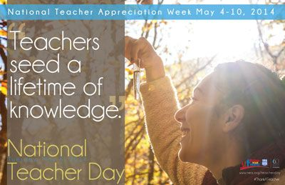 Download posters and web art for National Teacher Day on May 5th, 2015.