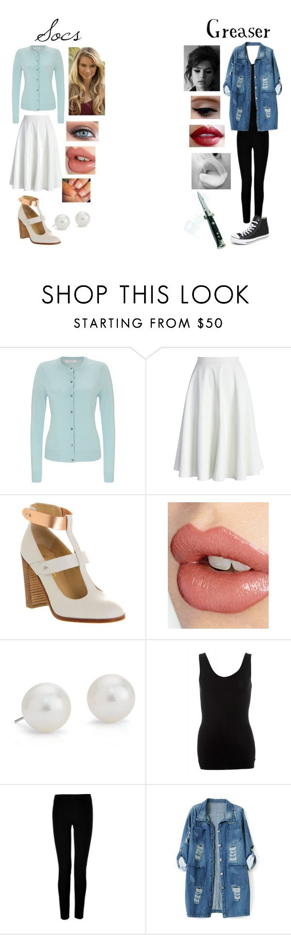 """Greasers and Socs!"" by stay-gold-ponyboy-1 ❤ liked on Polyvore featuring John Lewis, Chicwish, Victoria's Secret, Charlotte Tilbury, Blue Nile, DAY Birger et Mikkelsen, Joseph, Chicnova Fashion and Converse"