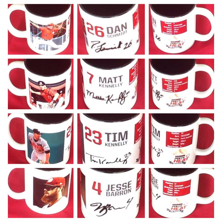 2014/15 Perth Heat Collector Mugs $15 each or $50 for complete set  Can be purchased on game day or contact us at 08 6336 7950 or perthheatmerch@gmail.com