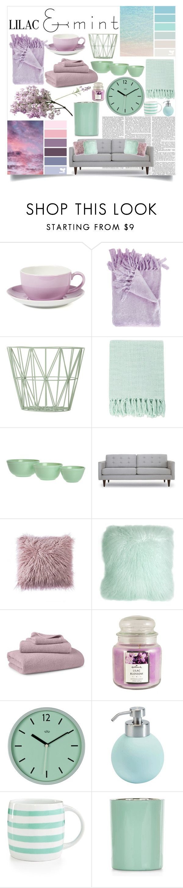 """Lilac And Mint"" by mayafunnyface ❤ liked on Polyvore featuring interior, interiors, interior design, home, home decor, interior decorating, Dibbern, ferm LIVING, Surya and Seed Design"