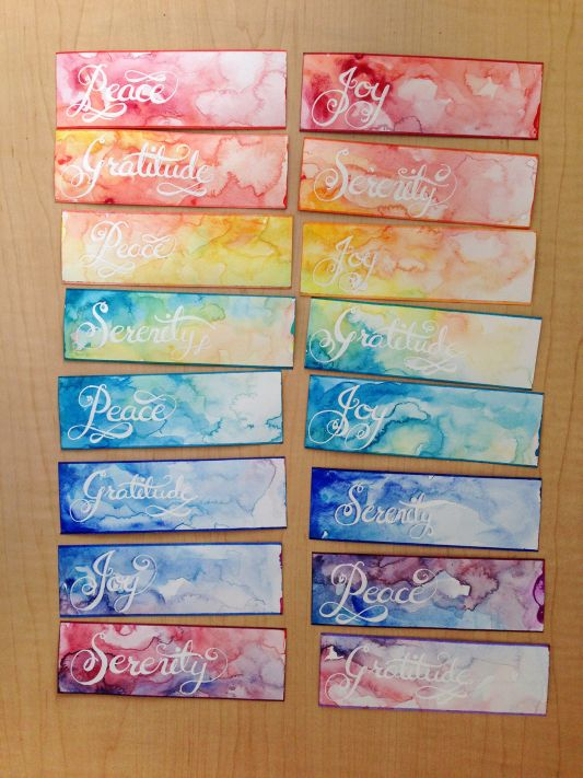 Bookmark Design Ideas a bookmark in the colours of baba marta Watercolor Bookmark Gifts
