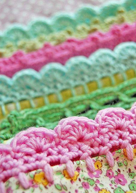 crochet trims on pillowcases... | Flickr - Photo Sharing!