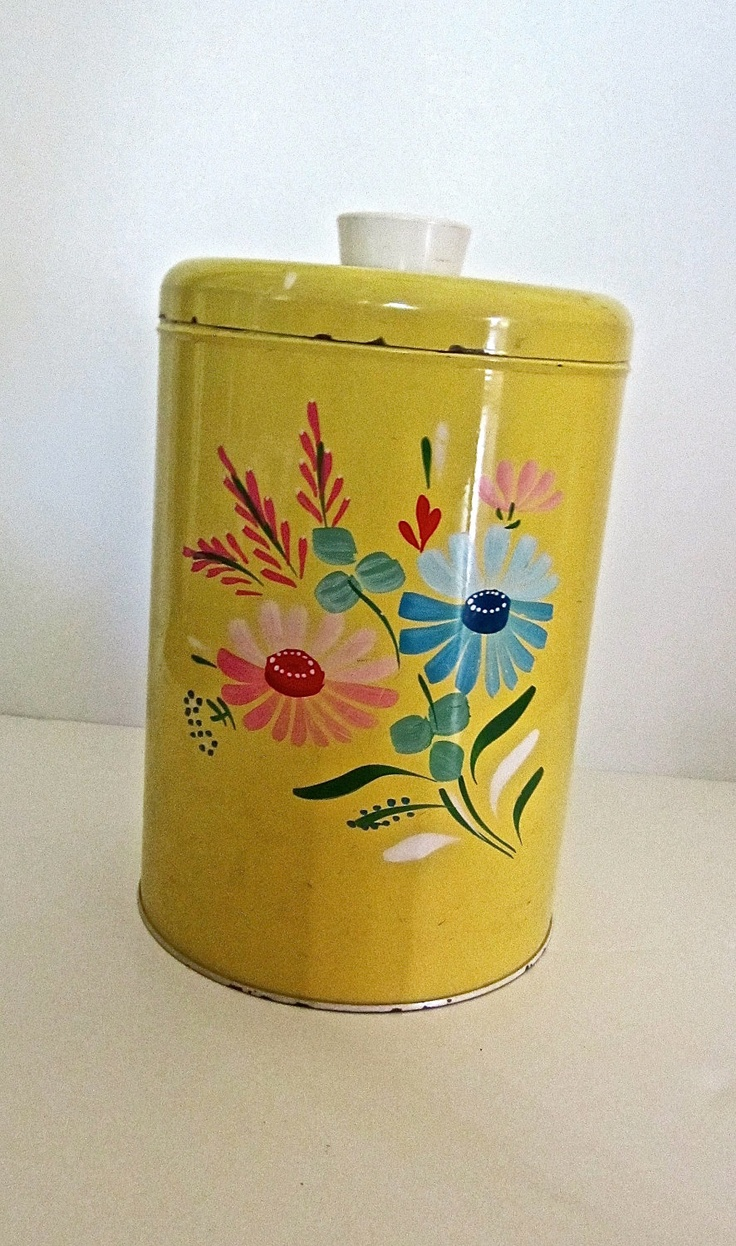 88 best ransburg canisters images on pinterest vintage kitchen kitchen vintage bread box canisters roosters ransburg flower metal canister