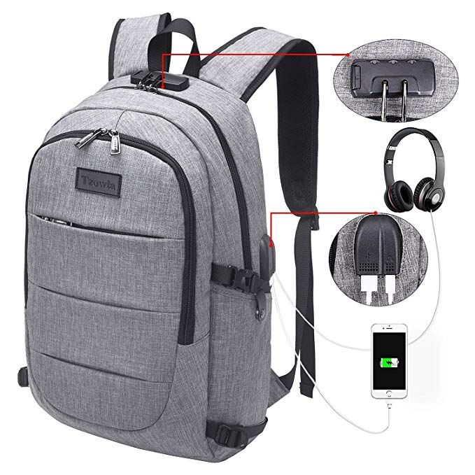 Travel Laptop Backpack Water Resistant Anti-Theft Bag with USB Charging Port and Lock 14//15.6 Inch Computer Business Backpacks for Women Men College School Student Gift,Bookbag Casual Hiking Daypack