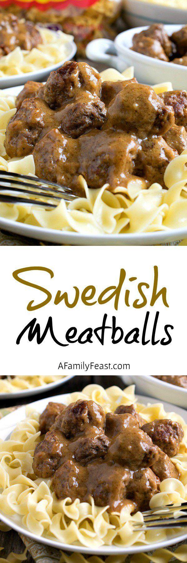 Swedish Meatballs over Noodles