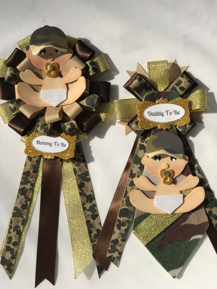 Baby Camo corsage, pin mommy pin daddy pin Camouflage Pattern baby decor Military Camouflage Baby Shower Military Baby Corsage Baby Shower by DollyDollz on Etsy