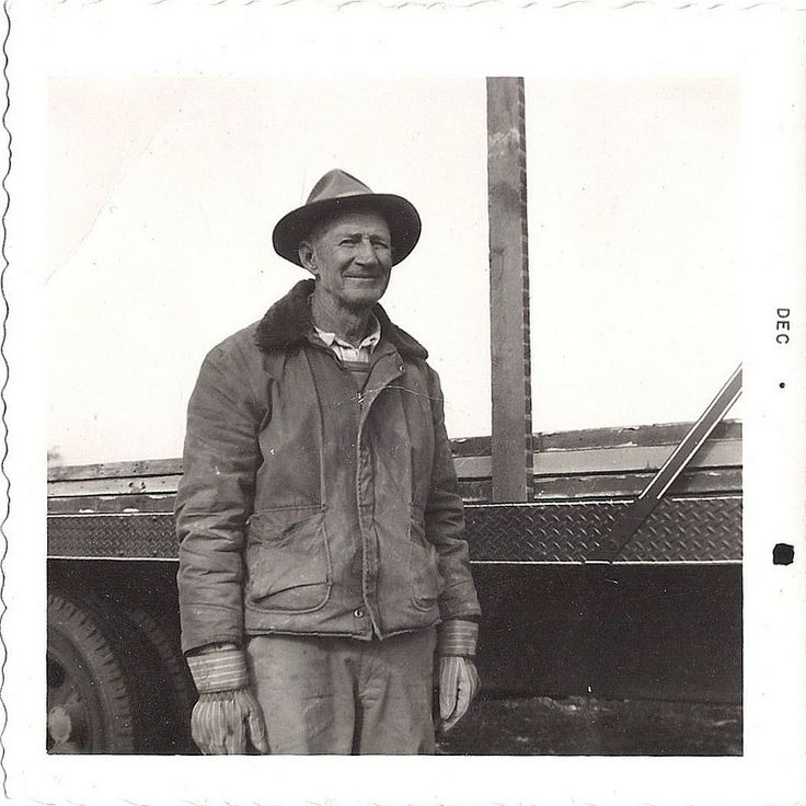 This is my wife's Great-Granddad in 1955.  He was a commercial contractor in Springfield, Missouri, USA.