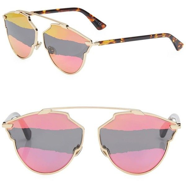 17a202fad483 Dior Dior So Real 59MM Mirrored Pantos Sunglasses (1.985 BRL) ❤ liked on  Polyvore