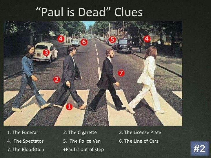 Paul is dead clues Abbey Road                                                                                                                                                                                 More