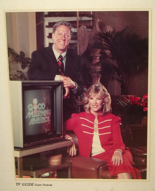 "My mom had this on every morning when I was a kid : ""Good Morning America"" with David Hartman and Joan London"