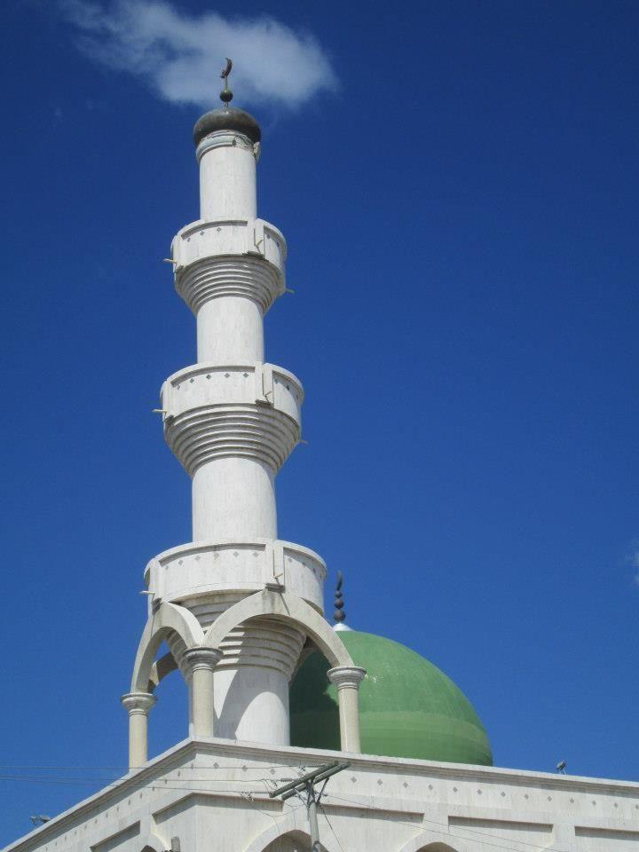 Minarete de la Mezquita de Omar Ibn Al-Jattab en Maicao, La Guajira, Colombia.