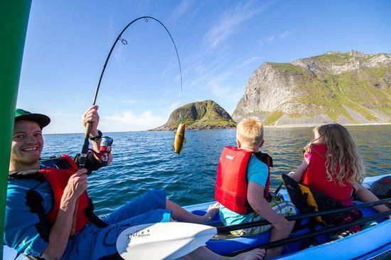Fishing in Lofoten is a lot of fun for the entire family #HattvikaLodge