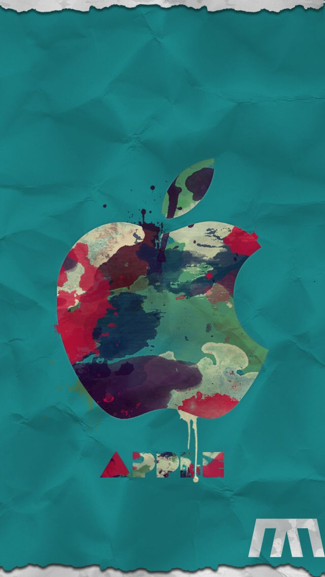 Colorful apple logo