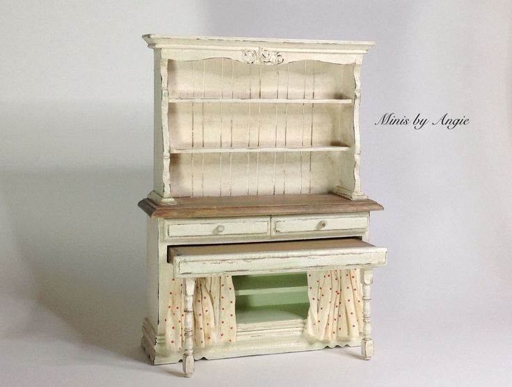 shabby chic dresser dollhouse miniature furniture dollhouse potting