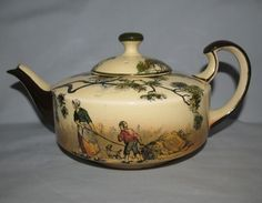 Royal Doulton Gleaners and Gypsies Nimrod shape teapot D3191 - Royal Doulton Seriesware