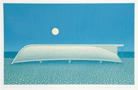 A Boat and the Moon by Christopher Pratt