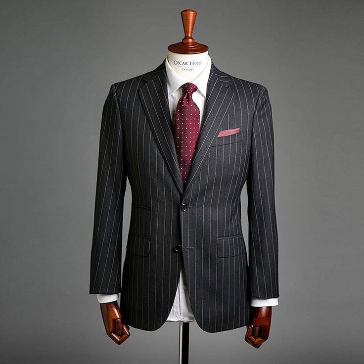 Often when you think of somebody in a black pinstripe suit paired with red…