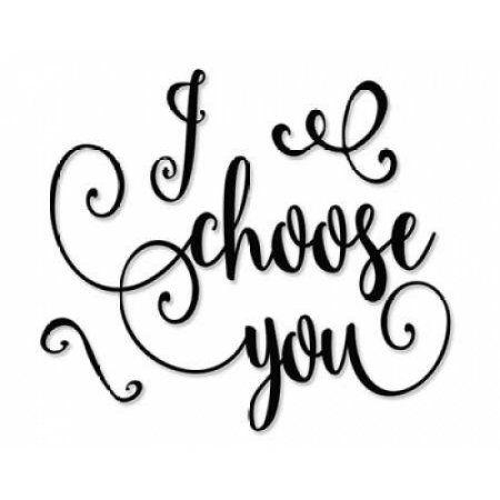 I Choose You - Black and White Canvas Art - Tara Moss (24 x 30)