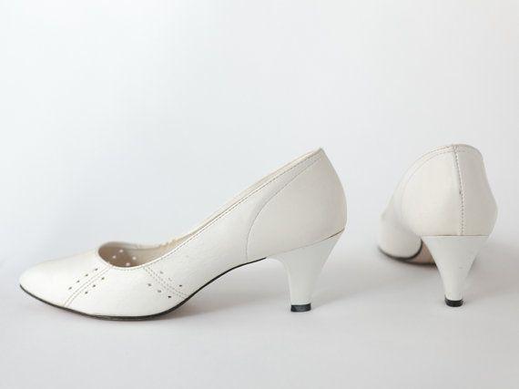 White Heels Size 8