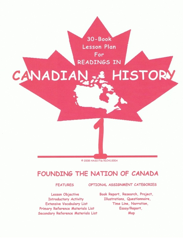 Readings in Canadian History  Booklists-  http://www.home-and-school-solutions.com/PDF/readings-in-canadian-history-1-book-list.pdf  http://www.home-and-school-solutions.com/PDF/readings-in-canadian-history-2-book-list.pdf