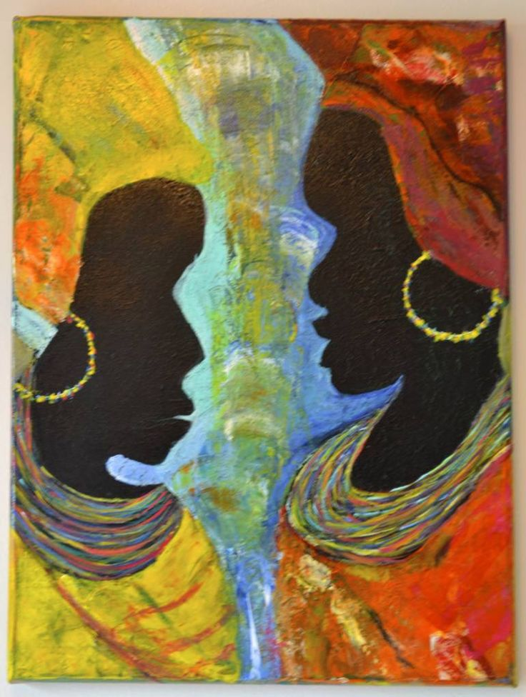 "Saatchi Art Artist Lavi Picu; Painting, ""Sisterhood"" #art"