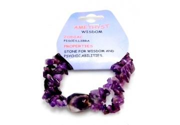Gemstone Crystal Chip Stretch Bracelets