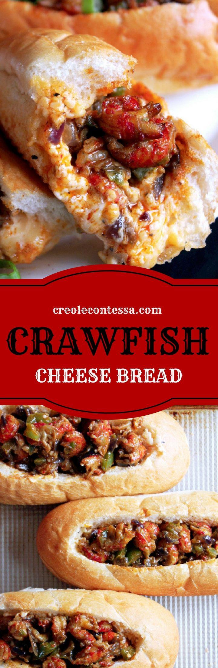 Crawfish Cheese Bread-Creole Contessa