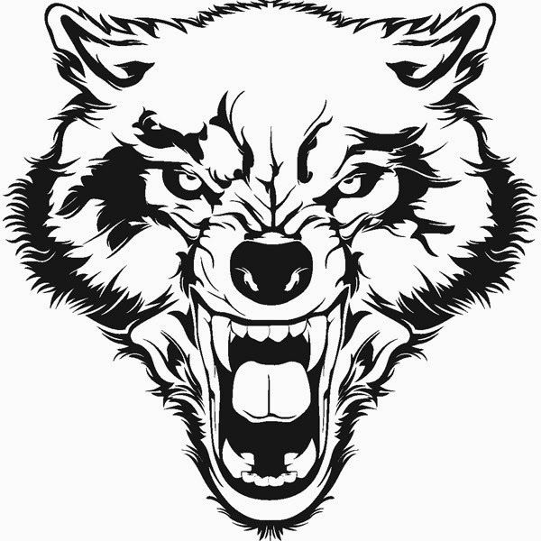 Wolf Head Tribal Wolf Face Wolf Tattoo Animal Tattoos