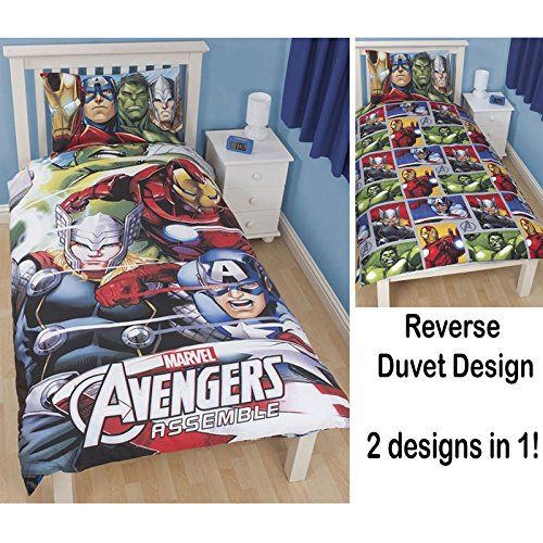 Avengers Team Single/US Twin 3D Duvet Cover Set  Avengers Single Fitted Sheet @ niftywarehouse.com #NiftyWarehouse #Thor #Marvel #Avengers #TheAvengers #Comics #ComicBooks