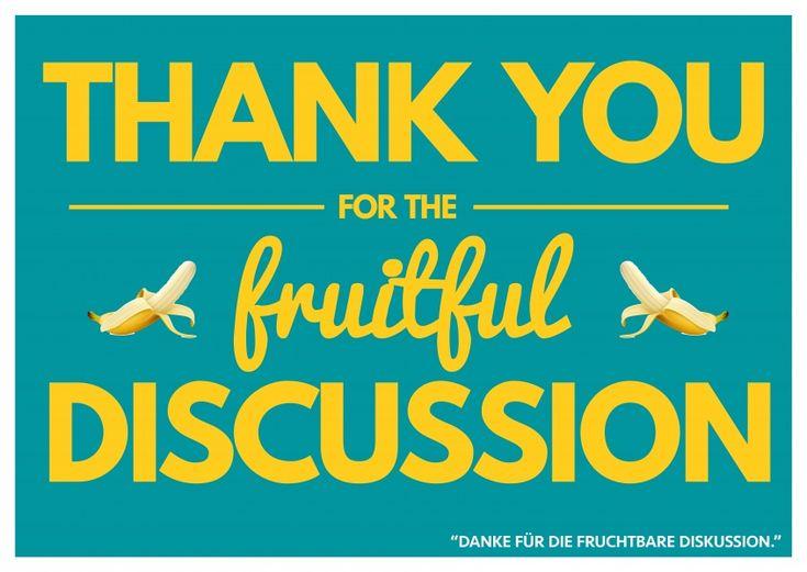 Fruitful Discussion | Denglisch | Echte Postkarten online versenden…