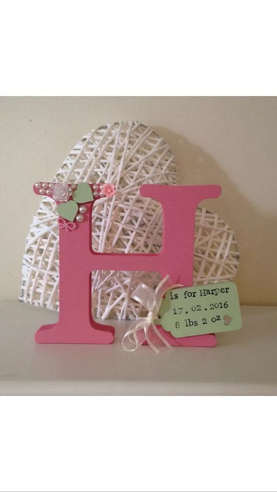 Freestanding Letter 15cm With Personalised by MareesMakesNuneaton