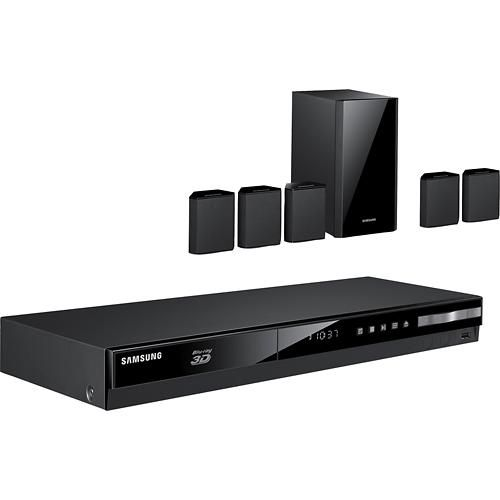 Samsung 500W 5.1-Ch. 3D / Smart Blu-ray Home Theater System  -  On Sale for $219.99  -  man cave audio, surround sound systems, sound bars, subwoofers, man cave electronics  -  www.ultimatemancaveshop.com