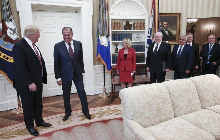 President Donald Trump met with Sergey Lavrov and the Russian ambassador just a day after firing James Comey. NO AMERICAN REPORTERS WERE ALLOWED TO ATTEND.