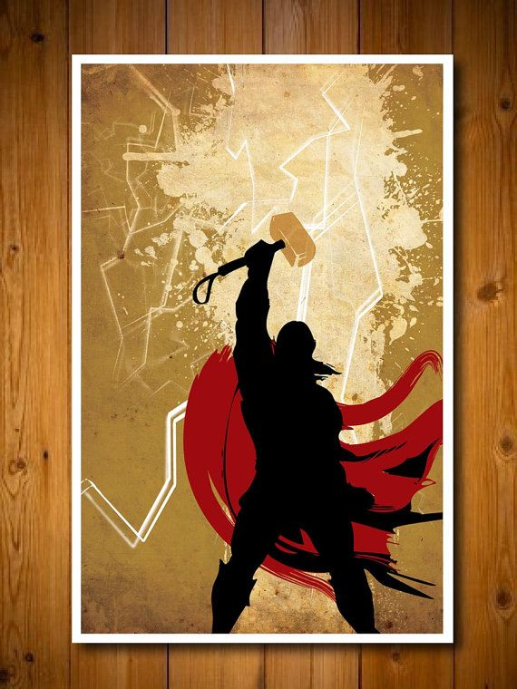Retro Avengers Movie Poster  Thor by colorpanda on Etsy, $18.00