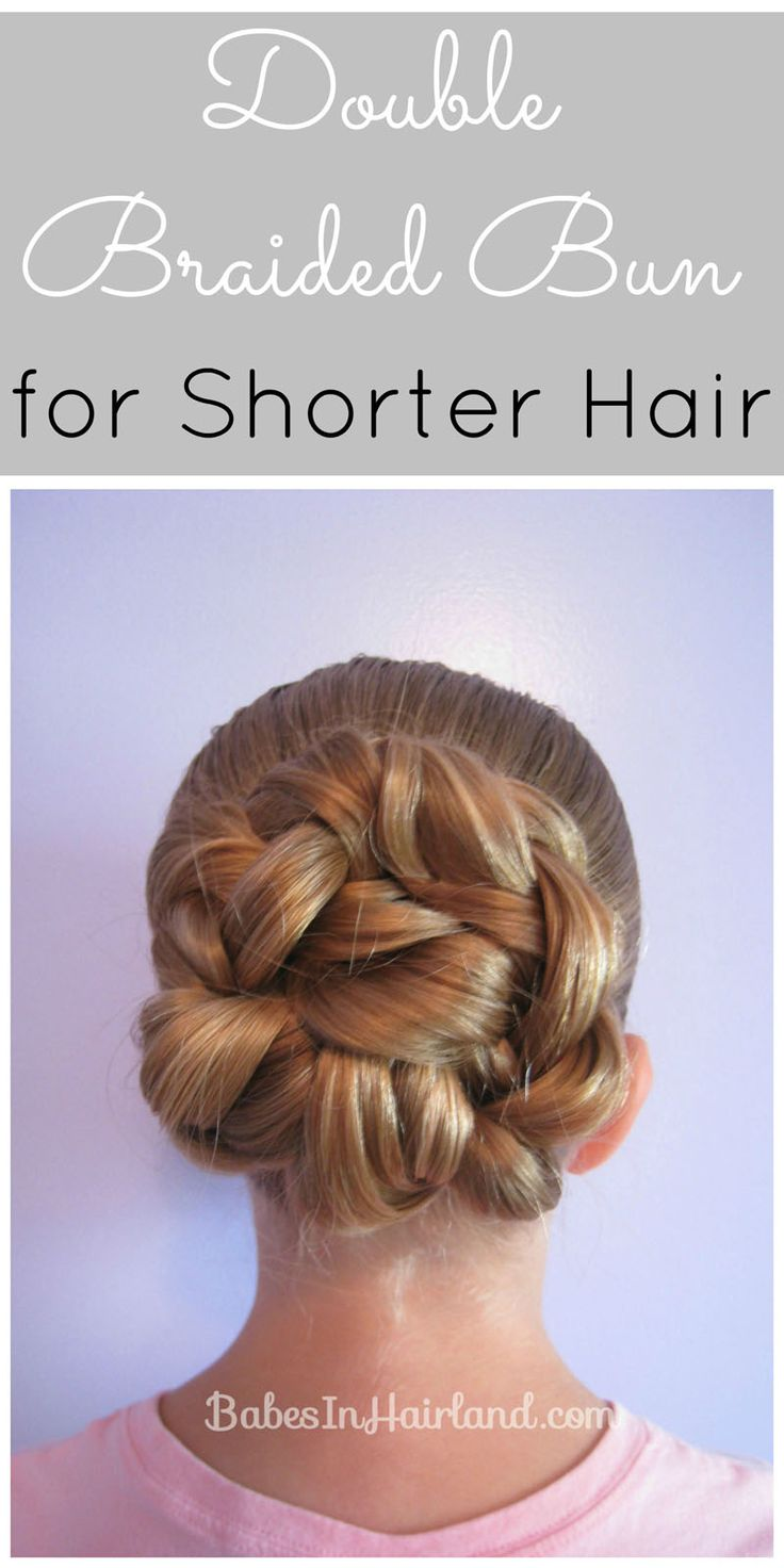 Double Braided Bun for Shorter Hair from BabesInHairland.com #bun #braids #hairstyles #video