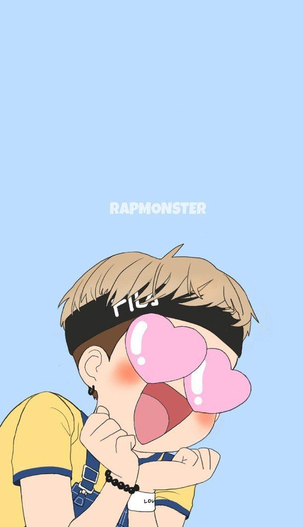 bts, cute, fanart, funny, kpop, wallpaper, bangtan, rap monster, namjoon