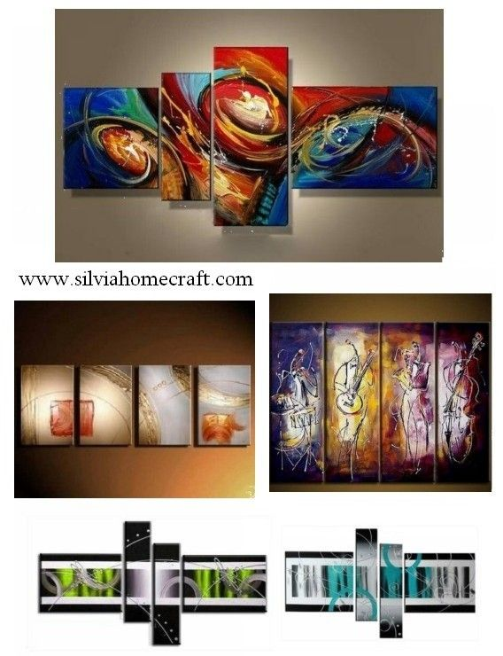 Pin On Sil 4 Panel Art Painting Group Paintings