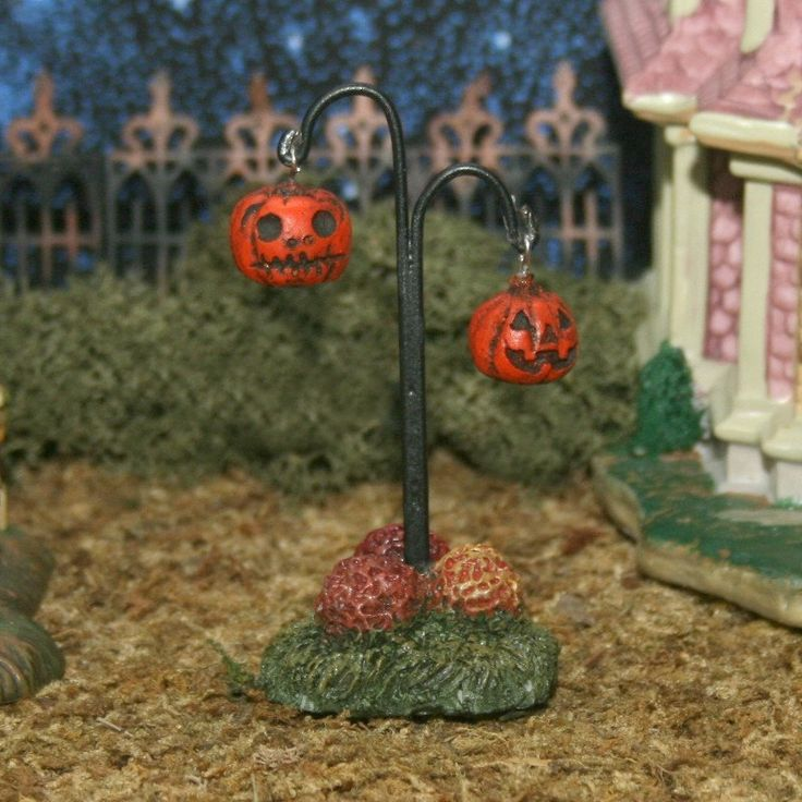 miniature halloween village jackolantern by skinnybonesdesigns 995
