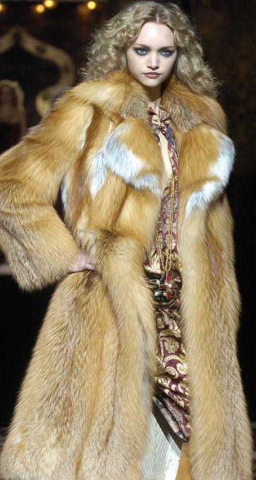 Red fox fur coat   Furs   Pinterest   Fur Coats, Fur and ...