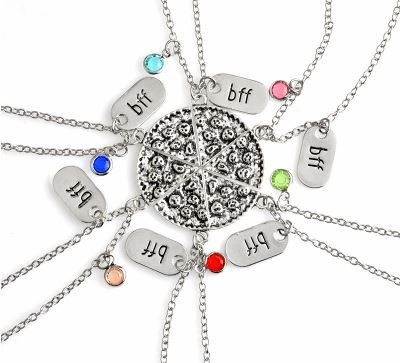 Friendship Pizza Necklace 6pcs/set by GifthyClub on Etsy