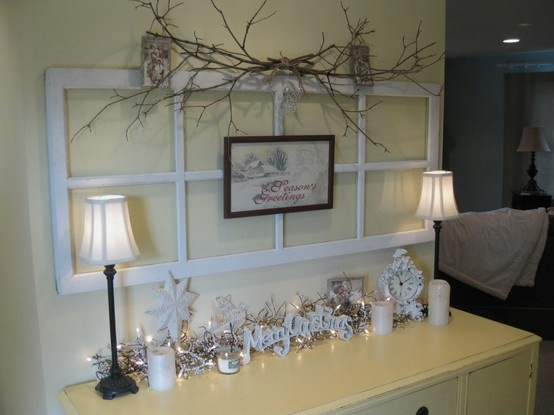old window christmas decorations  Home Decorating  Pinterest ~ 220626_Christmas Decorating Ideas Using Old Windows